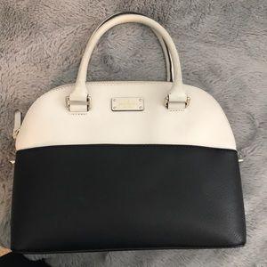 Kate Spade White & Black Bag with front pocket